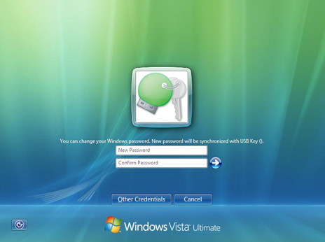 Rohos Logon Key. nderung des Passwortes in Windows Vista